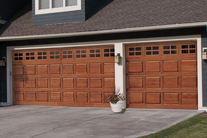 Wood Grain Steel Garage Doors